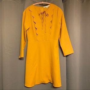 English Factory Retro Style Scalloped Detail Dress